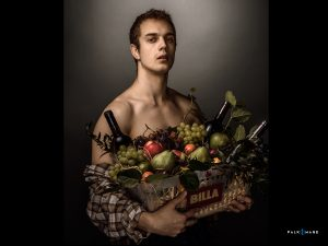 Boy-with-a-Basket-of-Fruit